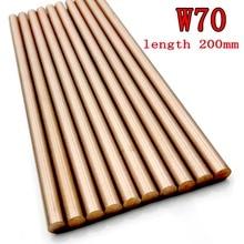 W70Cu30 tungstène cuivre tige électrode cuivre barre mettre tige électrique W70 tungstène cuivre alliage bonne électrique étincelle longueur 200mm