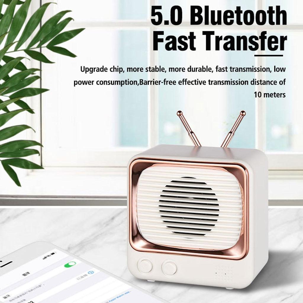 Altavoz portátil Retro con Bluetooth 5,0, estéreo inalámbrico Vintage, compatible con tarjeta...