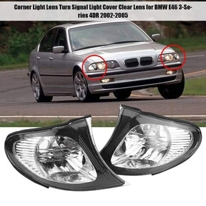 Headlight Corner Light Lens Turn Signal Light Cover Clear Lens for BMW E46 3-Series 4DR 2002-2005 Car Replacement Parts