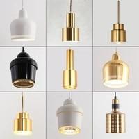 luces colgantes de campana de alvar aalto finlandes artek n%c3%b3rdico para dormitorio %d0%bb%d0%b0%d0%bc%d0%bf%d0%b0 led de brillo metar para