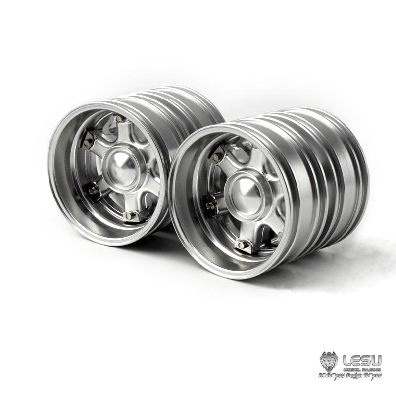 US Stock LESU Rear Metal Wheel Hub W-2046 for 1/14 DIY TAMIYA Model RC Tractor Truck Hex enlarge