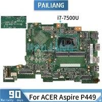 mainboard for acer aspire p449 i7 7500u laptop motherboard pa4db sr341 ddr4 tested ok