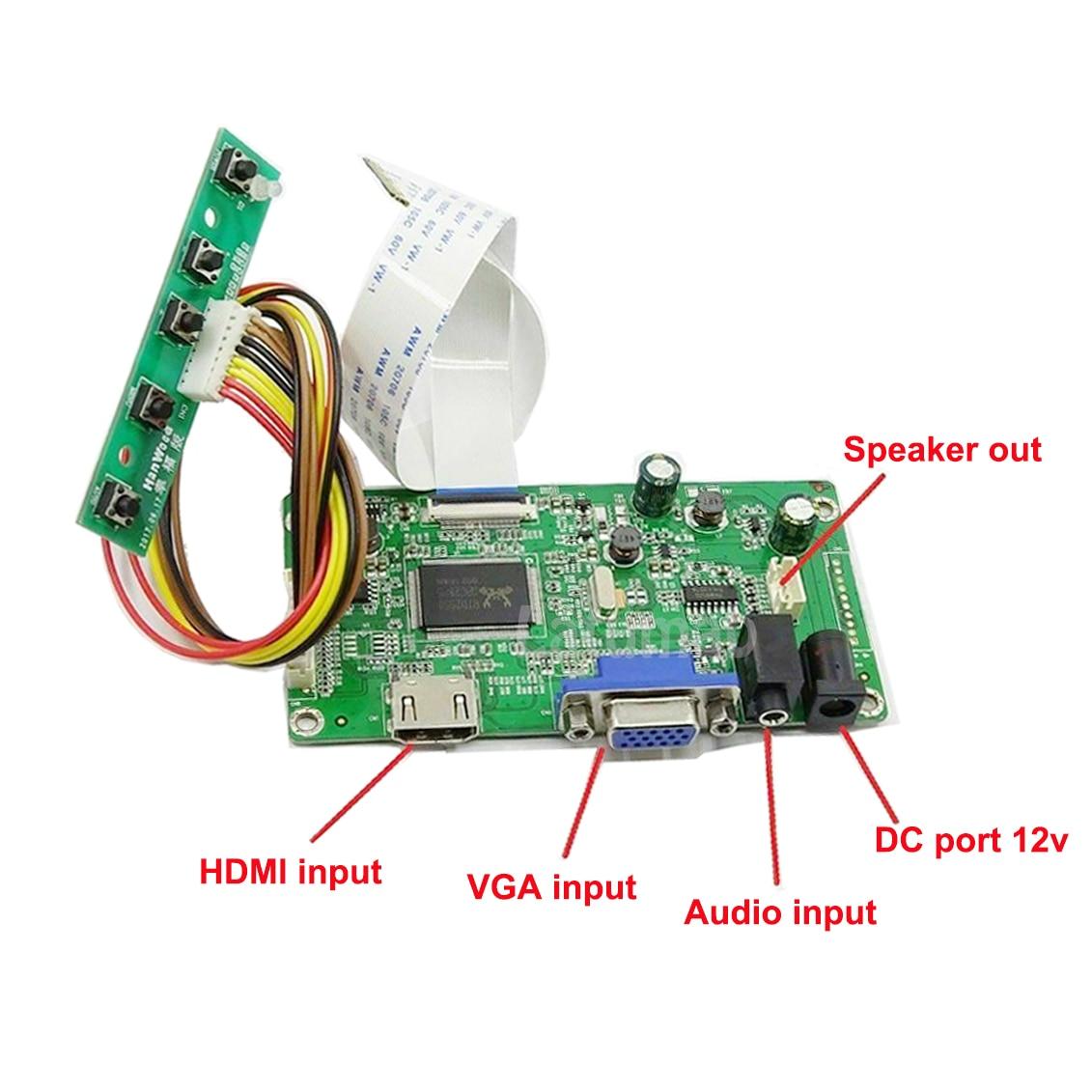"Latumab 14 pulgadas M140NWR4 HDMI + VGA placa controladora LCD para 14 ""1366x768 30 pines LCD LVDS Dispositivo de placa controladora EDP"