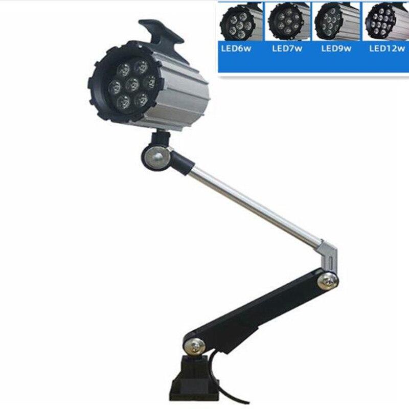 CNC الطحن آلة جزء الذراع الطويلة ضوء LED آلة أداة العمل ضوء مصباح 24V ل بريدجبورت مطحنة أداة