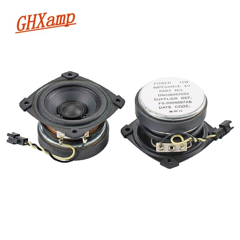 GHXAMP 2.5 inch 4OHM 10W Full Range Speaker Oil Cloth HiFi Satellite LoudSpeakers Upgrade For DIY Making Maze Speaker 1 Pairs