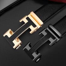 Fashion 2021 Belt Male Genuine Leather Luxury Automatic Buckle Genune Strap Black for Mens Belt Designers Brand High Quality