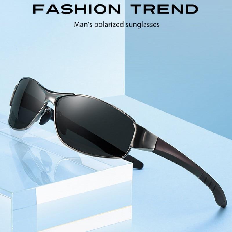Men Sunglasses Men Polarized Brand 2020 Fashion Square Metal Frame Male Sun Glasses Driving Fishing