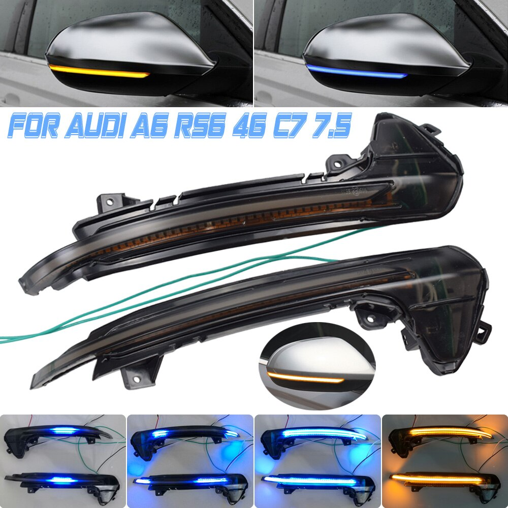Indicador secuencial de señal de giro intermitente LED Luz de respiración de arranque dinámico para Audi A6 RS6 4G C7 7,5 2012-2018