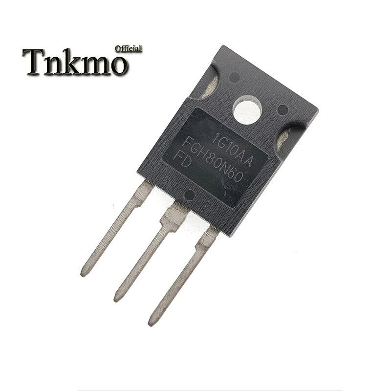 10 Uds FGH80N60FDTU FGH80N60FD FGH80N60 80N60 TO-247AB-247 N-CHANNEL tubo TRANSISTOR IGBT de alimentación 80A 600V envío gratuito