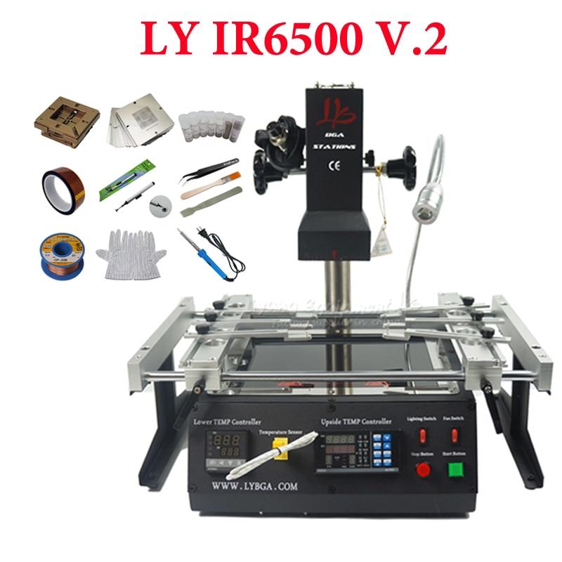 LY IR6500 V.2 بغا rebيعادل إصلاح محطة لحام إعادة العمل 2 مناطق الأشعة تحت الحمراء 2300 واط PC410 برنامج التحكم Usb الاتصال مع الكمبيوتر