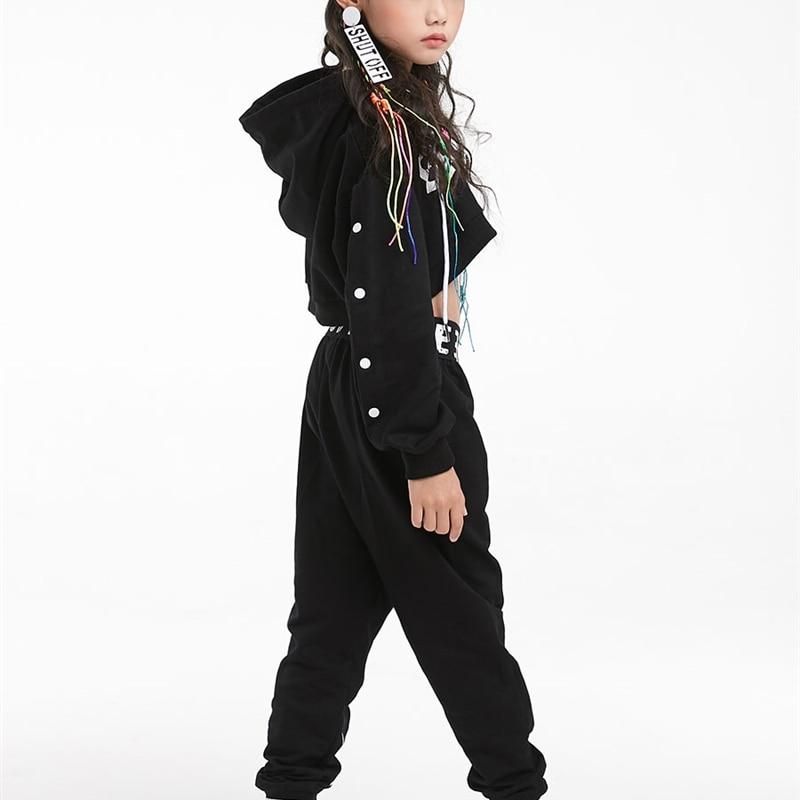 Children hip-hop clothing girls trendy clothing loose-fitting cropped tops hip-hop Korean style girls jazz dance costumes enlarge