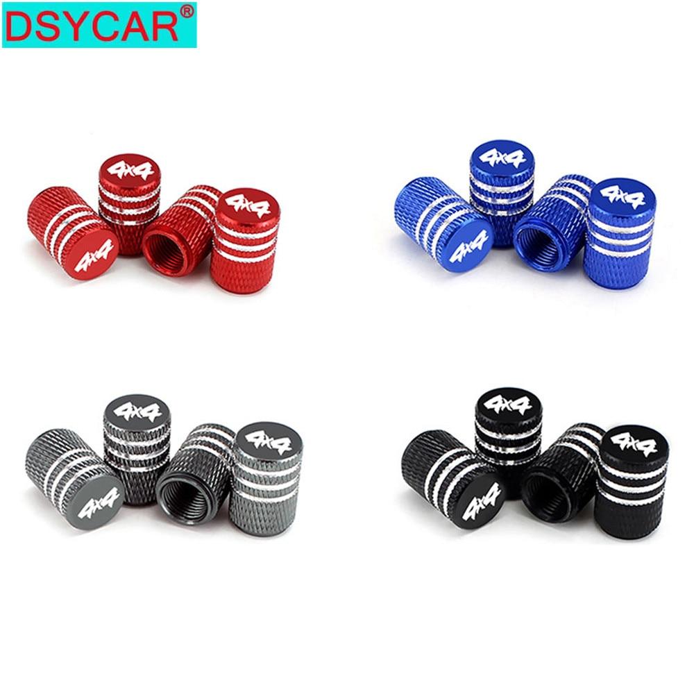 DSYCAR 4 шт./компл. 4X4 колпачки на стержень клапана шины алюминиевые автомобильные пылезащитные крышки колеса шины колпачки воздушного клапана