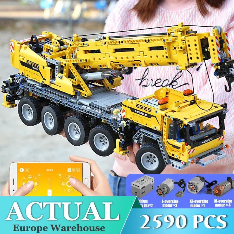 Mould King 13107 Technic Series Lepining 42009 Motor Power Mobile Crane Mk II Model Kits Model Building Blocks Bricks Toys Gifts