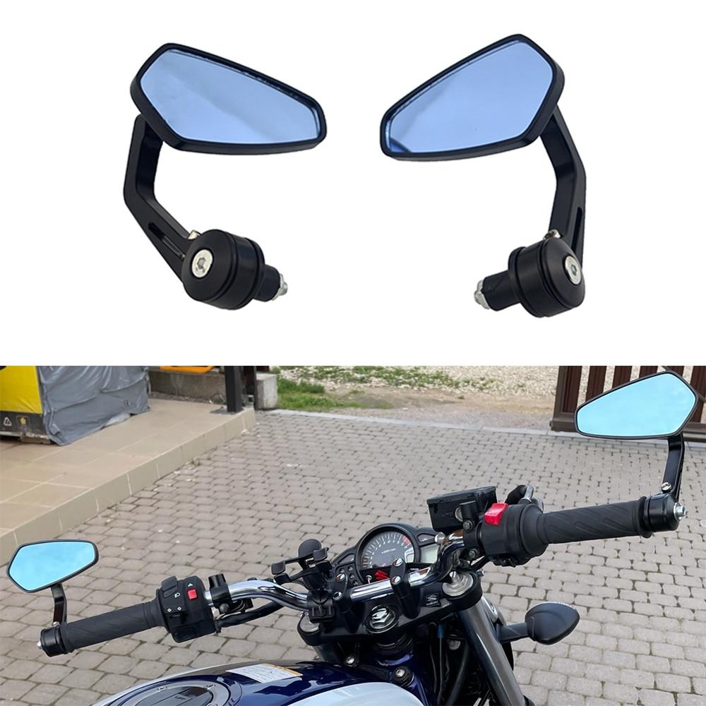 Motorcycle Bike Cruiser Chopper ATV Aluminum 7/8'' 22mm Bar End Side Rear View Mirror For BMW Ducati Aprilia Victory