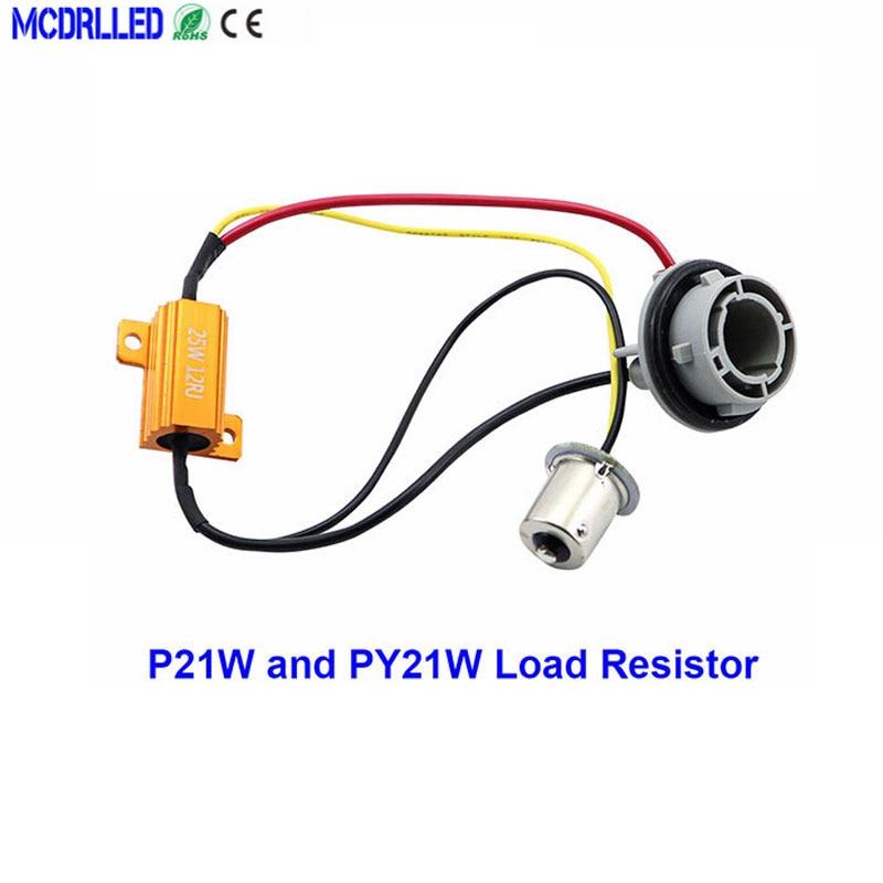 Гнездо для автоматической лампы 1156 BA15S BAU15S P21w светодиодный Canbus Py21w автомобильный декодер компенсатора резистор нагрузки 12 в 25 Вт без мерцани...