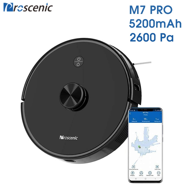 Proscenic M7 Pro LDS Robot Vacuum Cleaner ,Laser Navigation, 2600Pa Powerful Suction, APP & Alexa Control ,Multi Mapping