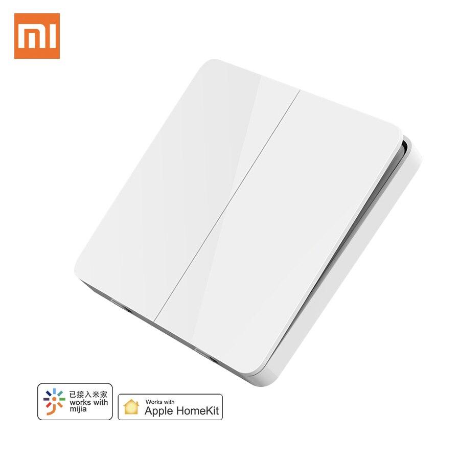 Оригинальный Смарт-переключатель Xiaomi Mijia, настенный выключатель, один двойной, три открытия, два управления, 2 режима, интеллектуальный выключатель света