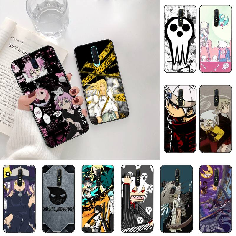hot animal Soul Eater Black TPU Soft Phone Case Cover For Oppo A5 A9 2020 Reno2 z Renoace 3pro Realm