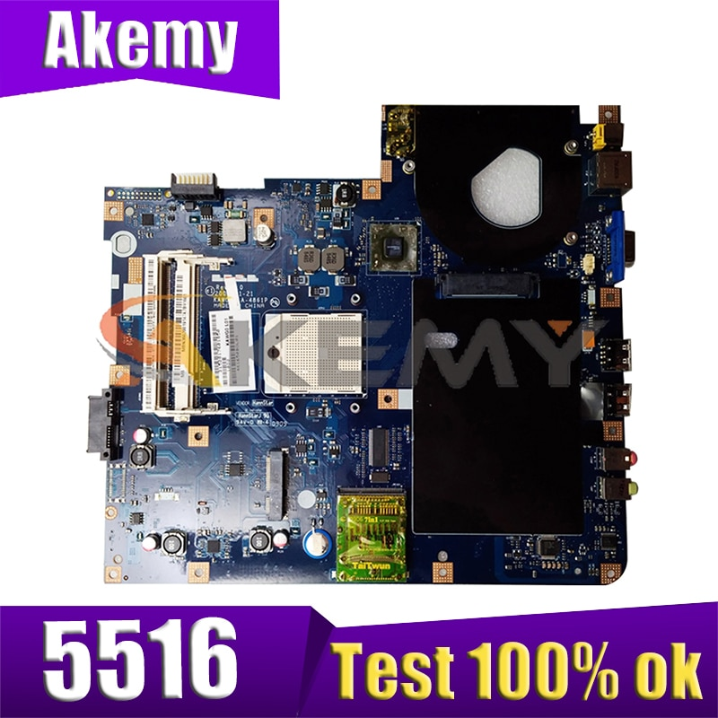 AKEMY MBPGY02001 MB. Pgy04.001 اللوحة الأم للكمبيوتر المحمول لشركة أيسر أسباير 5516 5517 5532 NCWG0 LA-4861P اللوحة الرئيسية