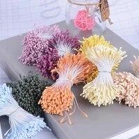 Double tete de fleurs melangees au hasard  400 pieces  1 5mm  bricolage  Mini fleurs  pour Scrapbooking  couronne artificielle  decoration de maison  fete de mariage