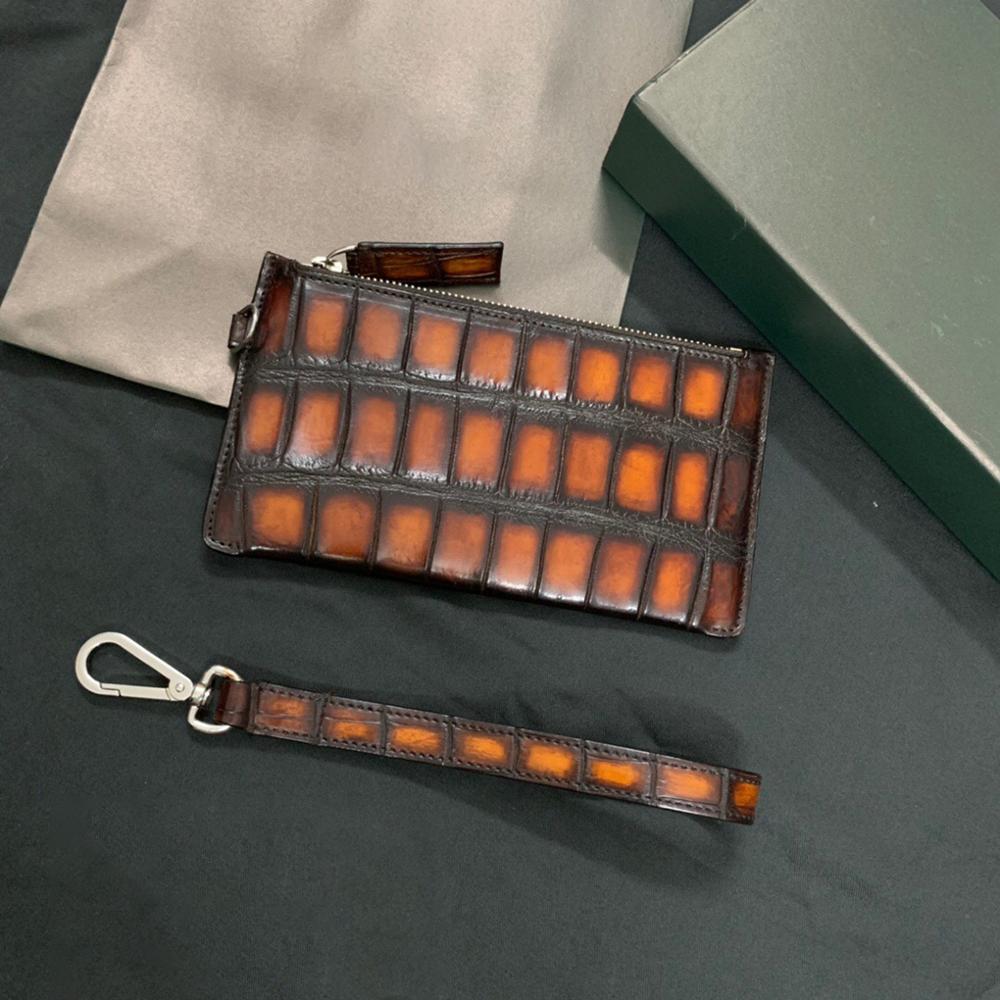 seetooluxury Crocodile leather bag cards holder wallet card women wallets men wallets clutch bag