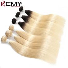 613 cheveux humains blonds paquets cheveux KEMY 8 à 26 pouces brésilien droit cheveux humains armure paquets non-remy Extensions de cheveux 1PC
