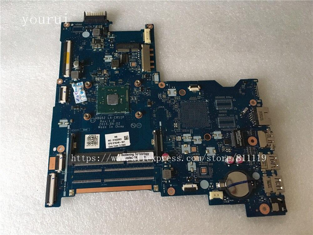 Yourui ل HP بافيليون 15-AC laptopاللوحة 815248-501 815248-001 ABQ52 LA-C811P مع N3050 وحدة المعالجة المركزية DDR3 اختبارها بالكامل