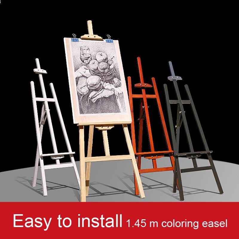 1.45 Bette Wooden Black White Easel Sketch Easel Artboard Easel Set Easel Set Bracket Advertising Display Stand painting easel