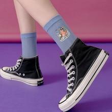 Women Socks 2020 Spring New Breathable New Cute Cartoon Fashion Cotton Socks Women Brief ThinTrend Korea Style Funny Socks Women