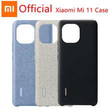 Original Xiaomi MI 11 Case leather imitation protective shell Hard Cover Silicone Kevlar texture Delicate touch For Xiaomi Mi 11