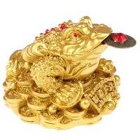 Feng Shui crapaud argent chance Fortune richesse chinois dore grenouille crapaud piece maison bureau decoration de table ornements cadeaux chanceux