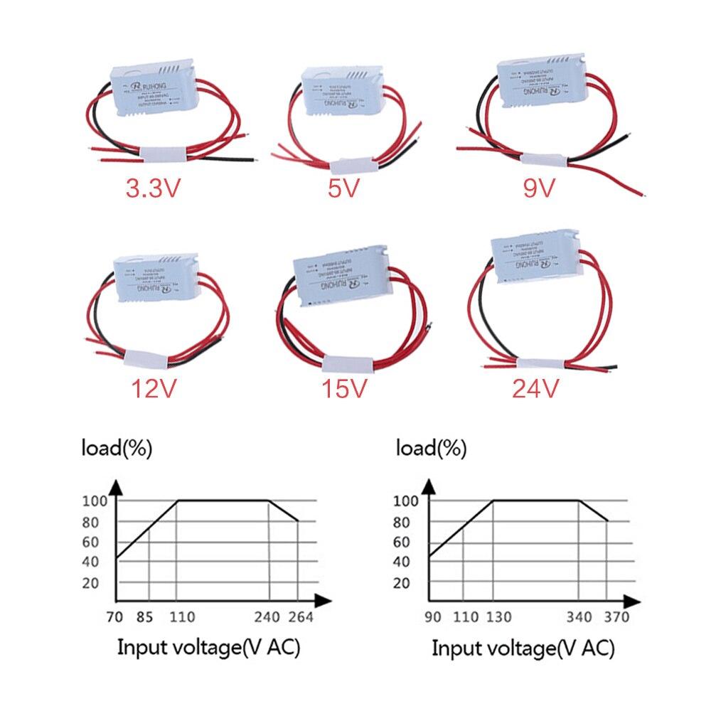 Novo quente 1 pces AC-DC módulo de fonte alimentação ac 1a 5w 220v para dc 3v 5v 9 12v 15v 24v mini converter