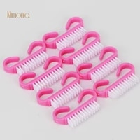 100pcs potable pink cleaing brushes pedicure nail brush clean dust professional nail art accessories manicure care tools