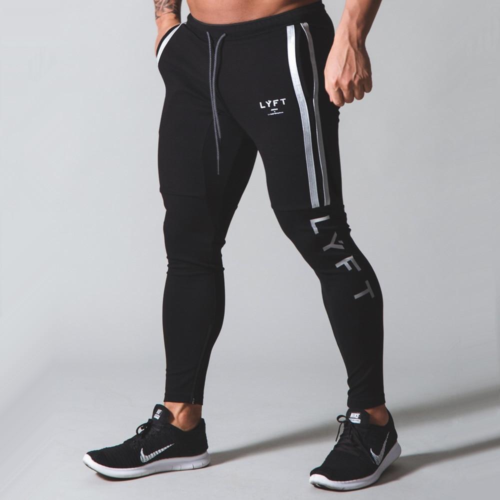 Black Running Sweatpants Men Joggers Pants Autumn Cotton Track Pants Gym Fitness Training Trousers New Male Bodybuilding Bottoms
