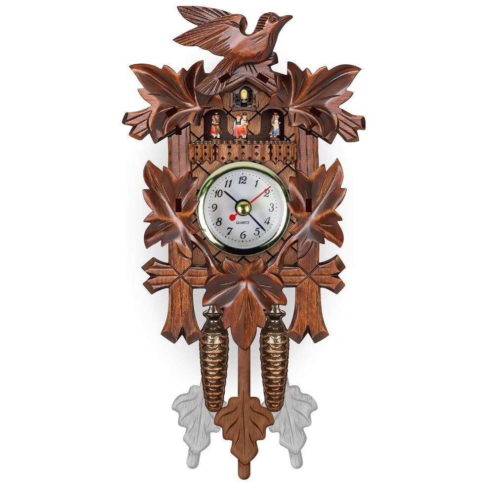 Relojes de pared vintage de cuco para Europa, Relojes de pared DIY de madera creativos, accesorios de decoración de madera de clcoks antiguos, envío directo