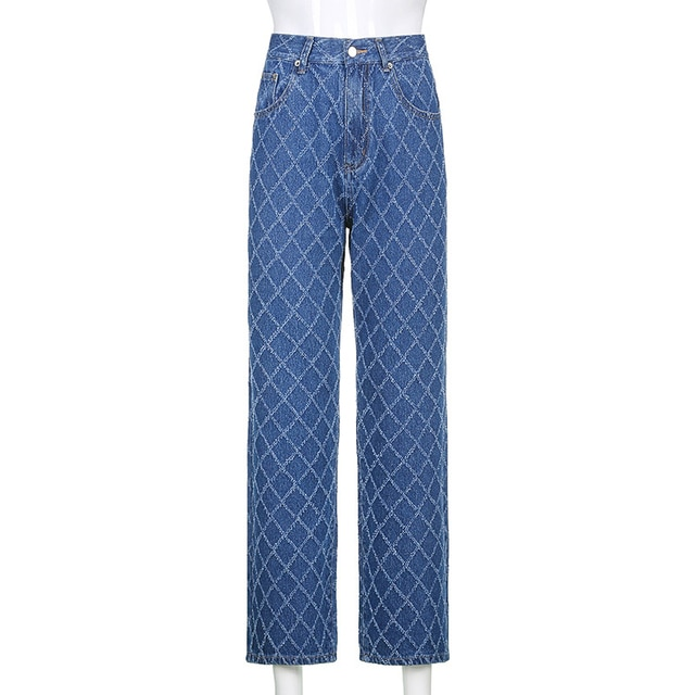 90s street clothes, Tatan jeans, Y2K, high waist, blue jeans, retro, independent, skateboard suit  ripped jeans for women 8