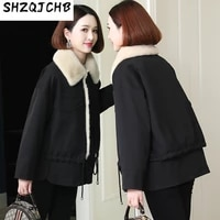shzq 2021 autumn winter new style womens wear short fur leather mink inner liner integrated coat