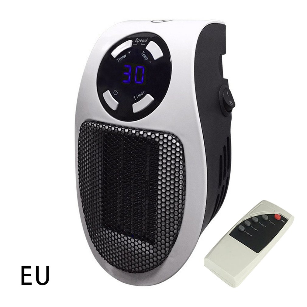 110-220V Wall-Outlet Mini Electric Air Heater Powerful Warm Blower Fast Heater Fan Stove Radiator Room Warmer
