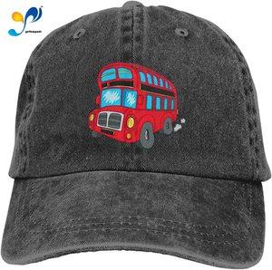 Yellowpods Double Decker Bus Casquette Baseball Dicer Vintage Adjustable Casquette Cap Cowboy Hat Shading Function Unisex