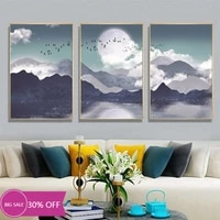 Peinture sur toile de decoration de noel  affiche murale avec clair de lune et oiseau pour salon  decoration de maison
