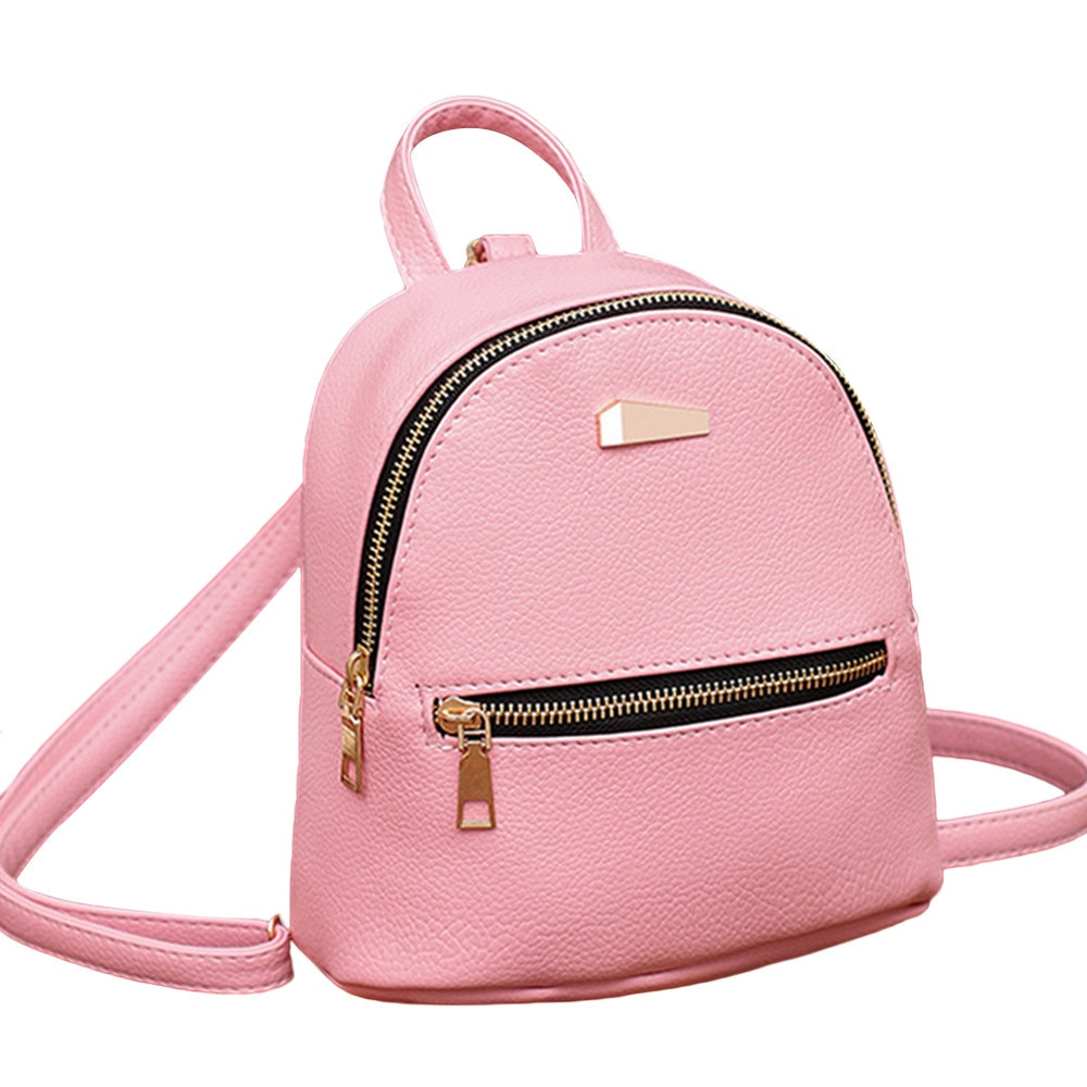 Женский кожаный рюкзак, школьный рюкзак, однотонный Модный женский рюкзак для колледжа, дорожная сумка, рюкзак, Женская Повседневная сумка ...