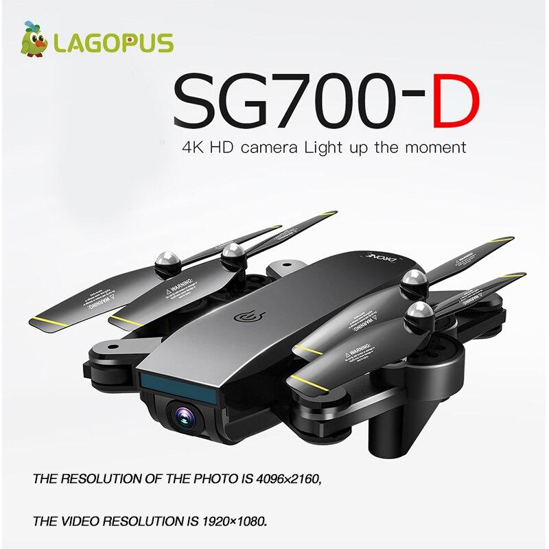 SG700-D للطي RC الطائرة بدون طيار 4k طويلة العمر البصرية تدفق 4K الطائرة بدون طيار المهنية كوادكوبتر HD كاميرا مزدوجة الجوي أربعة محاور الطائرات