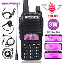 Baofeng UV-82 talkie-walkie 8W puissance Portable Radio bidirectionnelle UV82 Tri-puissance double PTT jambon CB Radio 10KM UV82 chasse émetteur-récepteur