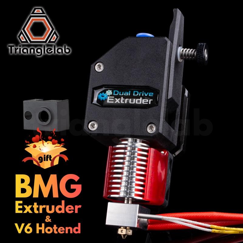 Trianglelab MK8 Bowden экструдер BMG экструдер + V6 HOTEND двухприводный экструдер для 3D-принтера высокая производительность для 3D-принтера I3