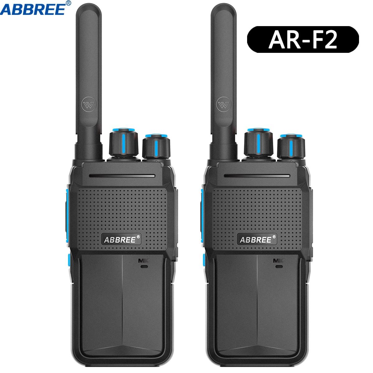 2PCS ABBREE AR-F2 Walkie Talkie CB Radio Transceiver 5W 10km Lange Palette Tragbare für Jagd Wald Stadt upgrade Baofeng BF-888S