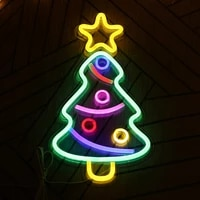 usb charging led neon decorative lights christmas tree wall decoration table light up sign for christmas party living room