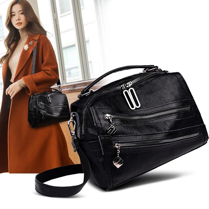 женская сумка 2020 тренд всместильная чёрная брендовая сумка для женщин pommax женская сумка на плечо