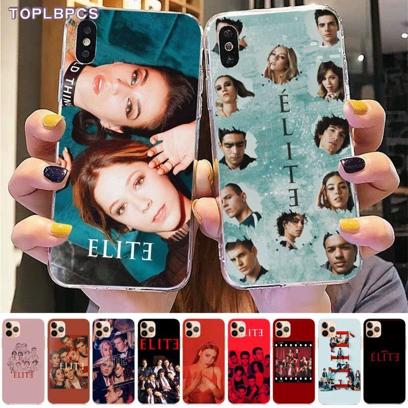 Carcasa de teléfono negra Elite de la Serie de Televisión Española TOPLBPCS para iPhone 8 7 6 6S Plus X 5S SE 2020 XR 11 pro XS MAX