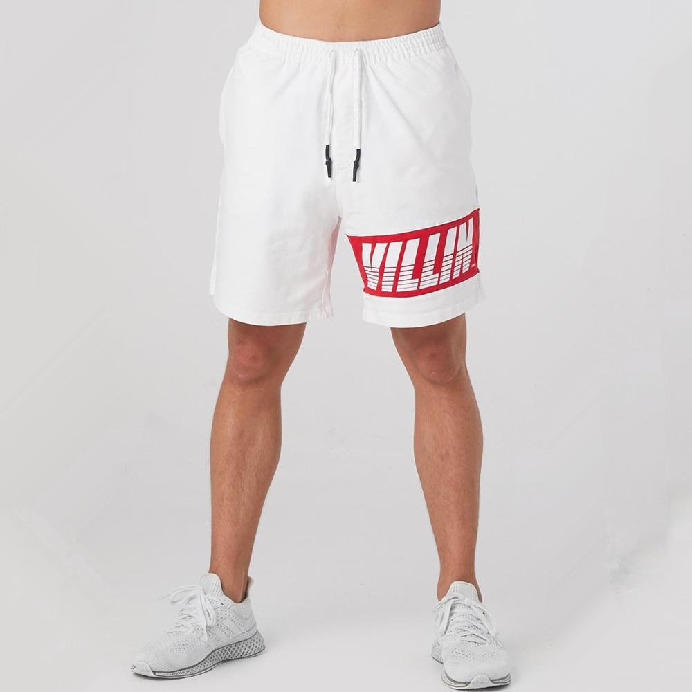 Шорты мужские спортивные повседневные, хлопковые короткие штаны для фитнеса, бодибилдинга, бега, тренировок, спортивные шорты, летние берму...