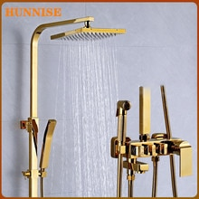 Bad Dusche System Edelstahl Dusche Kopf Massivem Messing Bad Mischer Armaturen Luxus Gold Bad Dusche Mixer Set
